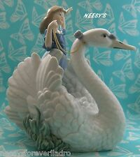 Lladro #5705 ~ THE SWAN AND THE PRINCESS * Mint Condition *  BUY 1 GET 1 50% OFF