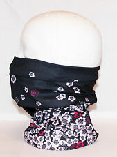 Multi use Biker Flower Cycling Neck Tube Scarf Snood Face Mask Warm Bandana