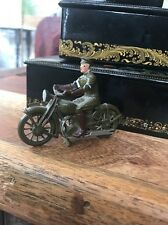 Vintage British Army LEAD Royal Dispatch Signal Motorcycle Rider