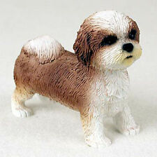 Shih Tzu Hand Painted Collectible Dog Figurine Tan Sport Cut