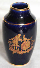 Miniature Cobalt Blue & Gold Vase with Fragonard Panel - Limoges