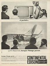 Publicité Advertising 1964  Téléviseur CONTINENTAL EDISON