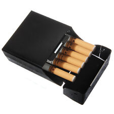 Black ALUMINIUM CIGARETTE BOX ~ ~ ~ ~ coloured metal cigaret colour case cigeret