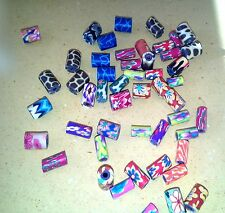 Polymer Clay Beads - Multicolored - Approx 50 in a Bag