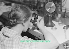 """VINTAGE 1936 PHOTO AT HAMILTON WATCH COMPANY IN LANCASTER, PA - 8"""" by 10"""""""