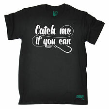Catch Me If You Can MEN T-SHIRT Fishing Angler Carp Funny Present Gift Christmas