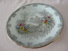 """AYNSLEY BONE CHINA QUEENS GARDEN 7614/1 PATTERN CREAM SOUP SAUCER ONLY 6-3/8"""""""