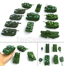 12 pcs Military Tank Models (6 Different Types) Toy Soldier Army Men Accessories