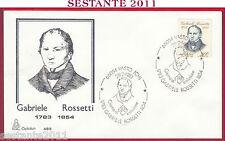 ITALIA FDC CAPITOLIUM 485 GABRIELE ROSSETTI 1983 ANNULLO VASTO CHIETI T389