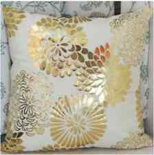Luxury Modern Metallic Gold Floral Oriental Girls Boho Cushion Cover Case Decor