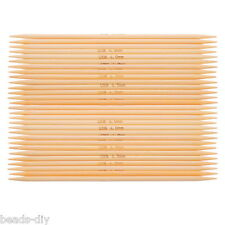 1Set Bamboo Needles Natural Color Double Pointed UK8 4.0mm 15cm Long