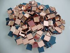 Mosaic Rose Mirror Tiles (Approximately-1x1 cm) 2 mm thick, 100 pcs
