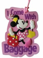 BRAND NEW MINNIE MOUSE I COME WITH LUGGAGE BAG SUITCASE TAG