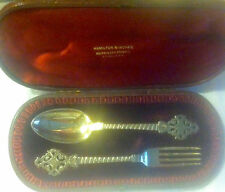 English Silver (London) Youth/Traveling Set in Original Box  Ca 1883
