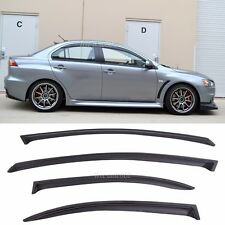 Fit 08-15 Mitsubishi Lancer 4pcs Window Visors Wind Deflector