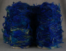 Cinq cônes de doux fantaisie cils feather yarn 500g dix boules tricot bleu 5