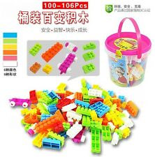 XC 104X Plastic Children Kid Puzzle Educational Building Blocks Brick Toy Animal