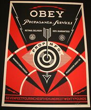 SHEPARD FAIREY ♦ PROPAGANDA SERVICE EYE ♦ serigraphie SIGNEE ♦ OBEY GIANT MINT