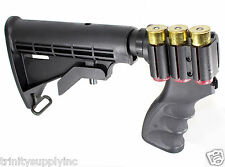 6 Position Tactical Stock for Remington 870 12 Gauge Shotgun Pistol Grip Black.