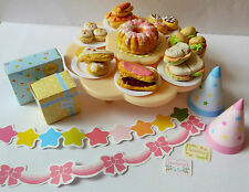 SYLVANIAN FAMILIES SPARES * NURSERY PARTY TABLE + HANDMADE FOOD COMBINED P+P NEW