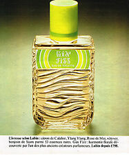 PUBLICITE ADVERTISING 015  1977  LUBIN   eau de toilette GIN FIZZ