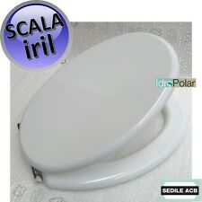 NUOVO SEDILE WC SCALA IRIL IDEAL STANDARD COPERCHIO MARCA ACB ERCOS SMART ITALY