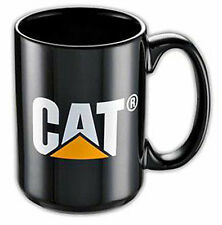 Caterpillar Black Cat Logo Ceramic Coffee Mug NEW 11oz Cup