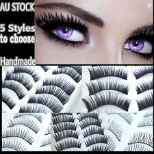10 Pairs of False Eyelashes Natural Long Thick Handmade Extension Lashes