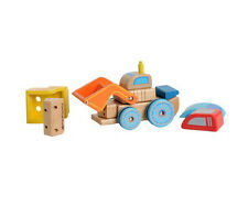 "Ever Earth Eco Wooden Wood Interchangeable Vehicle ""Racing Car, Bulldozer,Truck"""
