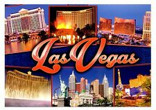 Las Vegas Postcard Nevada Casinos Caesars Palace Bellagio Fountain New York Wynn