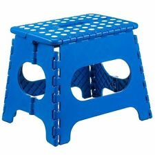 Sturdy Folding Step Stool great for kids and adults (Blue)