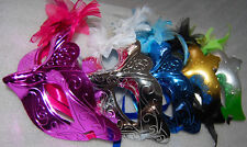 1 pc Masquerade Party Feather Fantasy Masks weddings Ladies Venice cheap new