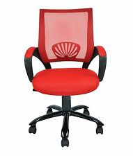 NEW Mid Back Mesh Ergonomic Computer Desk Office Chair Red 468