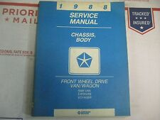 1988 DODGE CARAVAN PLYMOUTH VOYAGER BODY CHASSIS SERVICE MANUAL