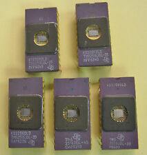 5 Vintage Texas Instruments TMS2516JDL CPU Eprom Ceramic IC Gold Pins NOS #5P925