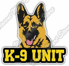 "K-9 Unit US Army Police Dog German Shepherd Car Bumper Vinyl Sticker Decal 4""X5"""
