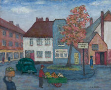 L.M.R. Favell - Mid 20th Century Oil, Market Town