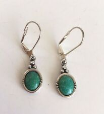 POPULAR CAROLYN POLLACK RELIOS STERLING SILVER SOUTHWEST TURQUOISE EARRINGS
