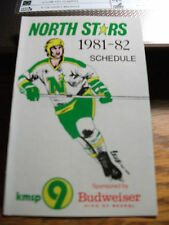 1981-82 Minnesota North Stars Official NHL Hockey Schedule MINT FREE SHIP