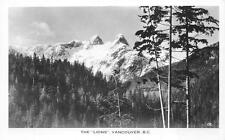 RPPC THE LIONS VANCOUVER BRITISH COLUMBIA CANADA REAL PHOTO POSTCARD