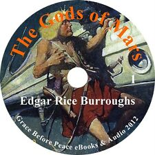 The Gods of Mars Sci-Fi Audiobook by Edgar Rice Burroughs on 7 Audio CDs
