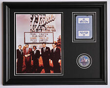 RAT PACK Sands Hotel photo framed with casino card and poker chip