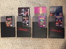4 NES Game/Cartridge Robocop, Iron Sword, Ultima, Mechanized Attack manual books