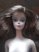 BARBIE SILKSTONE NUDE - 'TRACE OF LACE'  LONG WAVY BROWN HAIR - BEAUTIFUL