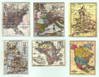 SET OF HAND-MADE DOLLS' HOUSE 1/12TH SCALE VICTORIAN MAPS