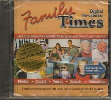 Family Times Digital Newsletter-CD-NIP-Interactive Letters, Clip Art: Windows 95