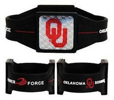 "NEW Oklahoma Sooners Ionic Bracelet Balance 7.5"" Power Force Hologram Dual Sport"