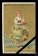 Vintage French Trade Card: Original Early 1900's Chromlithography Shoe Repair