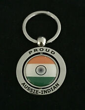 PROUD AUSSIE - INDIAN METAL KEYCHAIN KEYRING GIFT AUSTRALIAN INDIA SOUVENIR