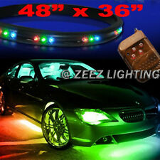 LED Undercar Underbody Underglow Kit Neon Strip Under Car Glow Light Tube C05